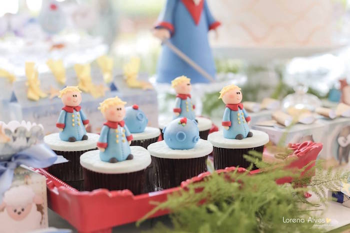 Little Prince-inspired Cupcakes from a Little Prince Birthday Party via Kara's Party Ideas - KarasPartyIdeas.com (27)
