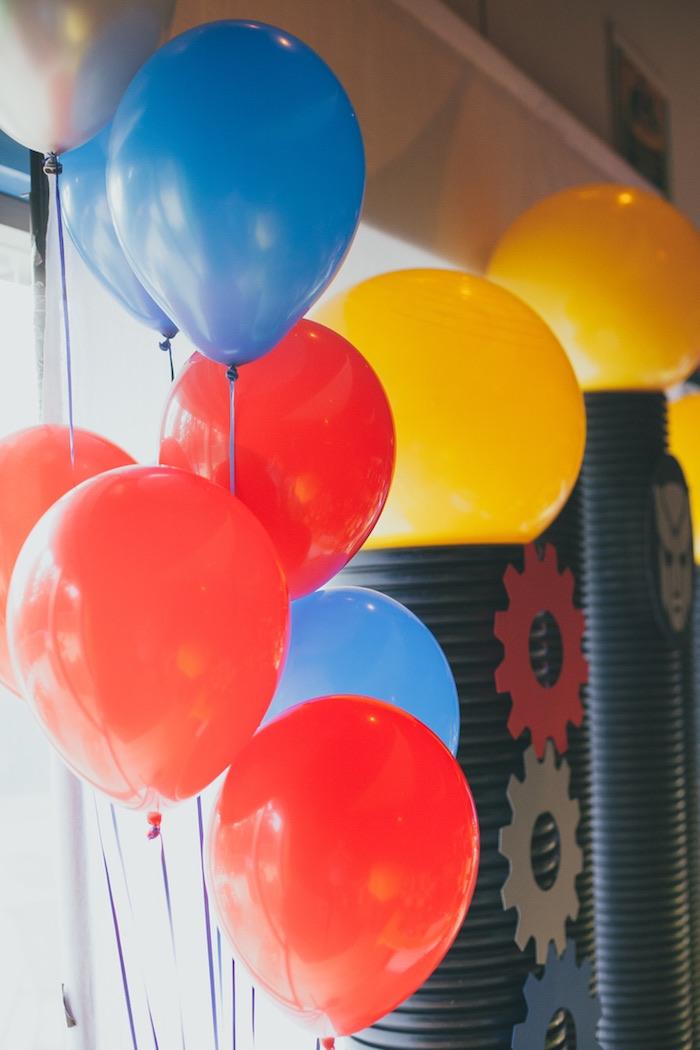 Balloons from a Transformers Birthday Party via Kara's Party Ideas | KarasPartyIdeas.com (4)