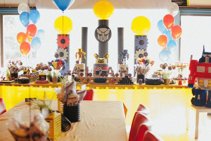 Head Table from a Transformers Birthday Party via Kara's Party Ideas | KarasPartyIdeas.com (10)