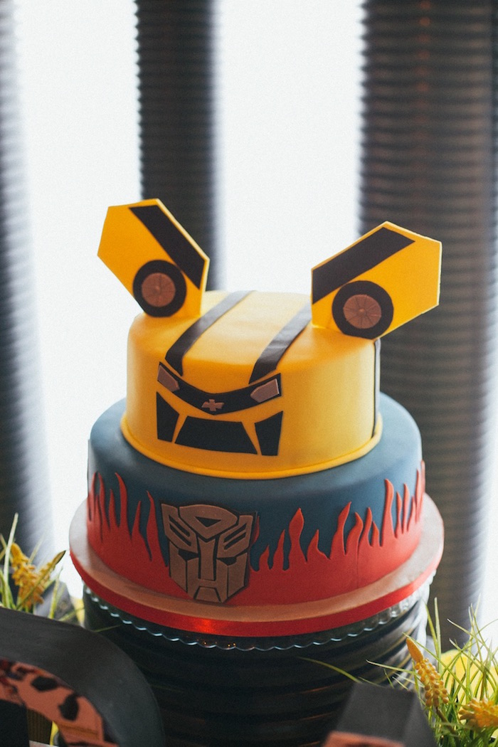 Fine Karas Party Ideas Transformers 4Th Birthday Party Karas Party Funny Birthday Cards Online Alyptdamsfinfo