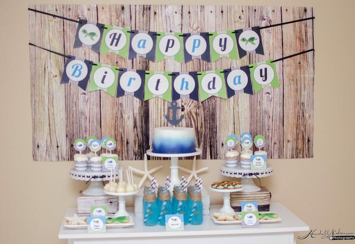 Head Table from an Under The Sea Birthday Party via Kara's Party Ideas - KarasPartyIdeas.com (17)