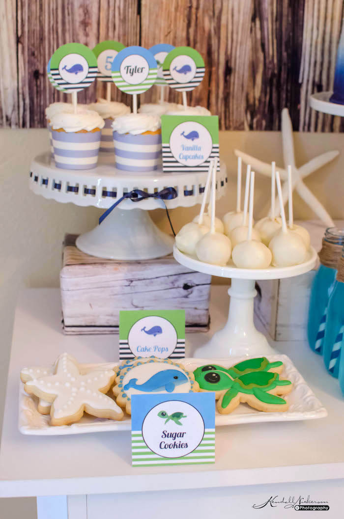 Sweets from an Under The Sea Birthday Party via Kara's Party Ideas - KarasPartyIdeas.com (15)