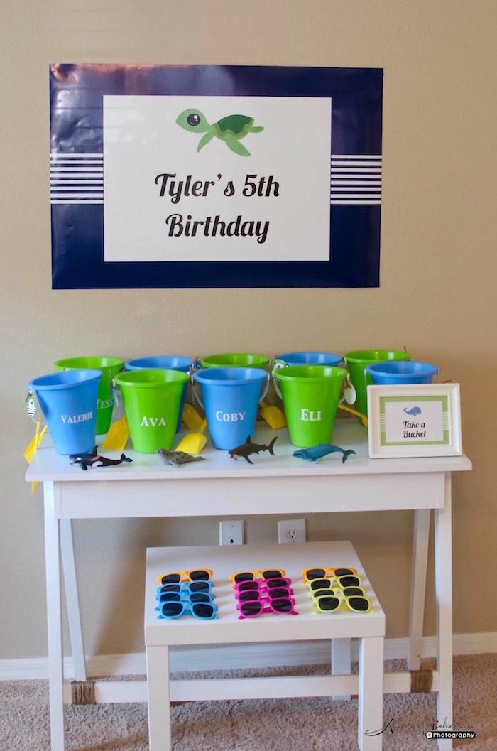 Favor Table from an Under The Sea Birthday Party via Kara's Party Ideas - KarasPartyIdeas.com (11)
