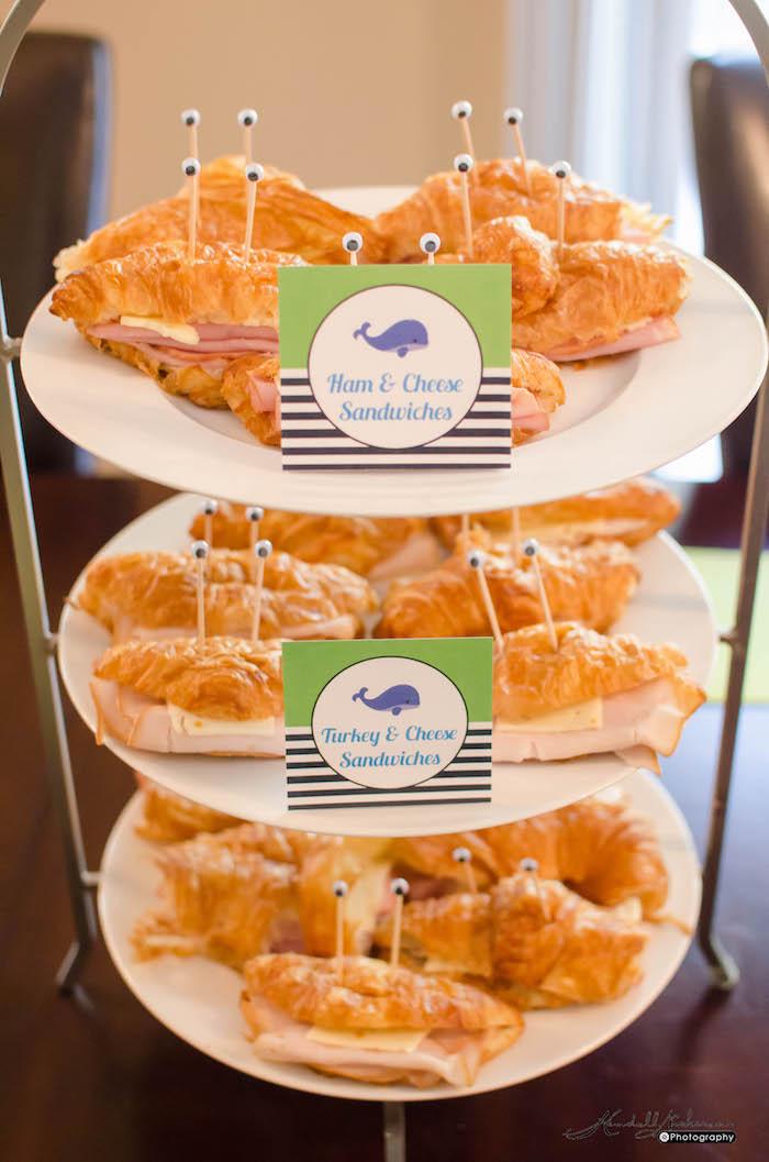 Sandwiches from an Under The Sea Birthday Party via Kara's Party Ideas - KarasPartyIdeas.com (10)