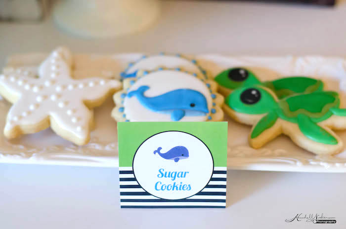 Sugar Cookies from an Under The Sea Birthday Party via Kara's Party Ideas - KarasPartyIdeas.com (9)