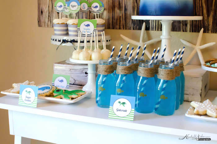 Sweets + Drinks from an Under The Sea Birthday Party via Kara's Party Ideas - KarasPartyIdeas.com (7)