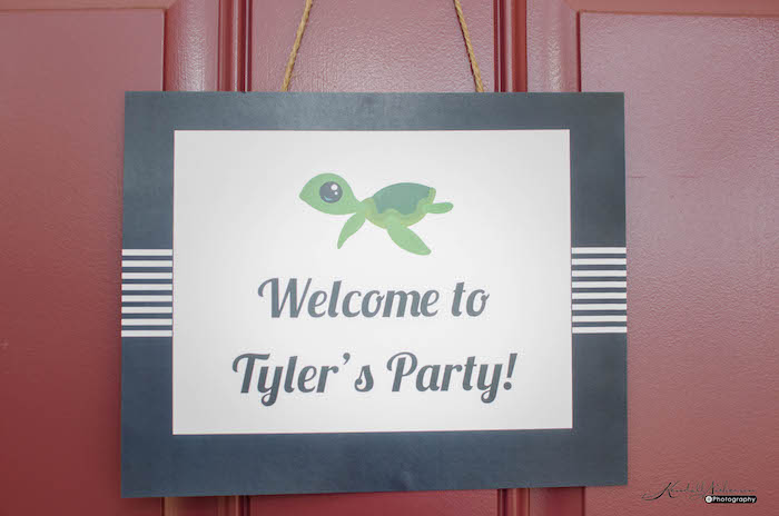 Welcome Sign from an Under The Sea Birthday Party via Kara's Party Ideas - KarasPartyIdeas.com (5)