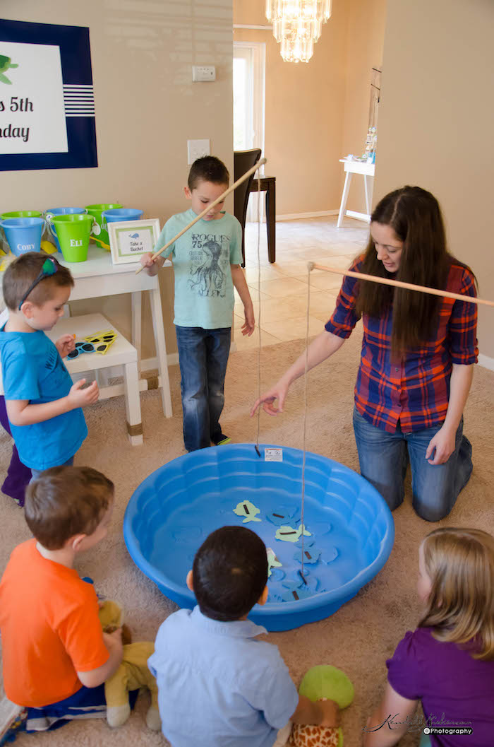 Kara 39 s party ideas nautical under the sea birthday party for Sea fishing games