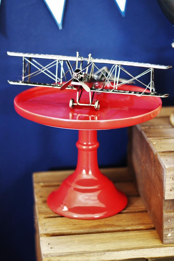 Vintage Airplane from a Vintage Airplane Baby Shower via Kara's Party Ideas - KarasPartyIdeas.com (24)