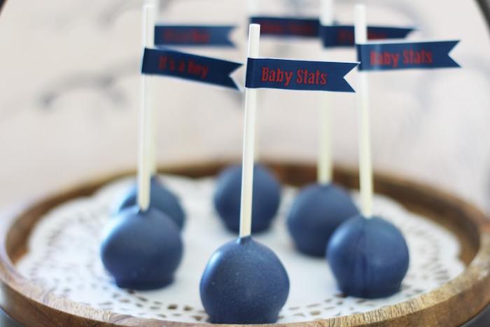 Cake Pops from a Vintage Airplane Baby Shower via Kara's Party Ideas - KarasPartyIdeas.com (21)