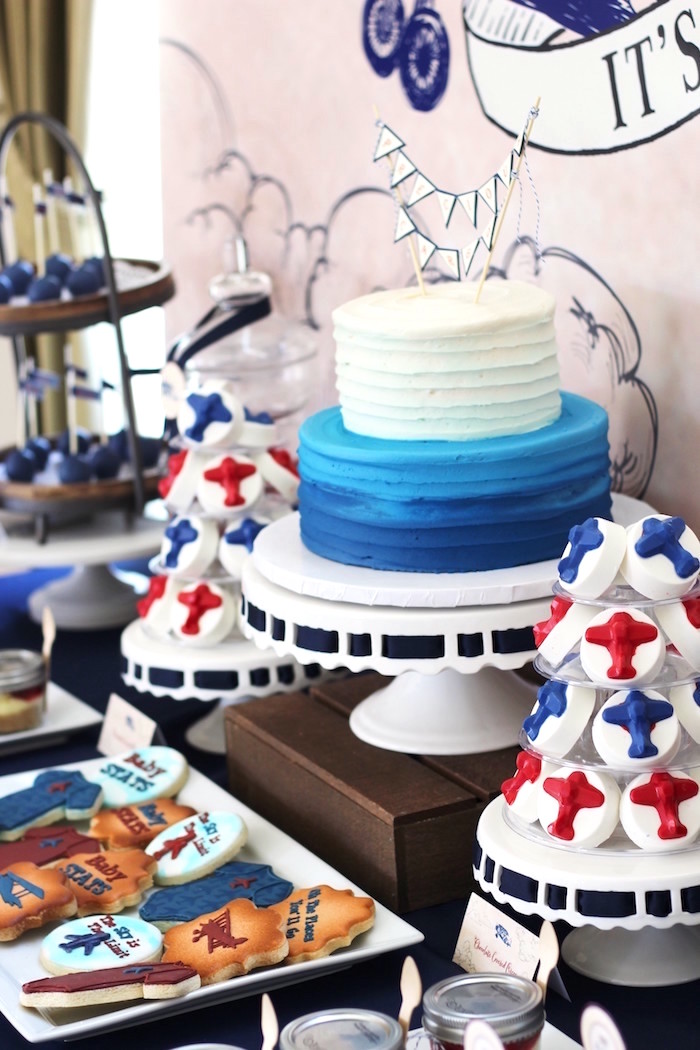 Sweet Details from a Vintage Airplane Baby Shower via Kara's Party Ideas - KarasPartyIdeas.com (12)