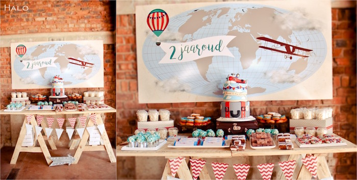 Table From A Vintage Airplane Birthday Party Via Kara 39 S Party Ideas