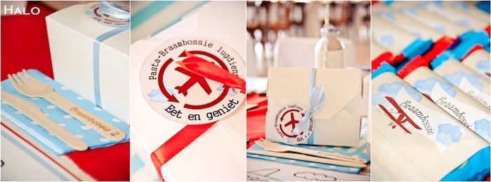 Guest Table Details from a Vintage Airplane Birthday Party via Kara's Party Ideas | KarasPartyIdeas.com (1)
