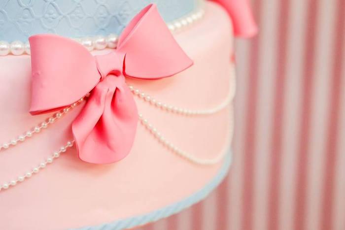 Cake Detail from a Vintage Carousel Birthday Party via Kara's Party Ideas - KarasPartyIdeas.com (18)