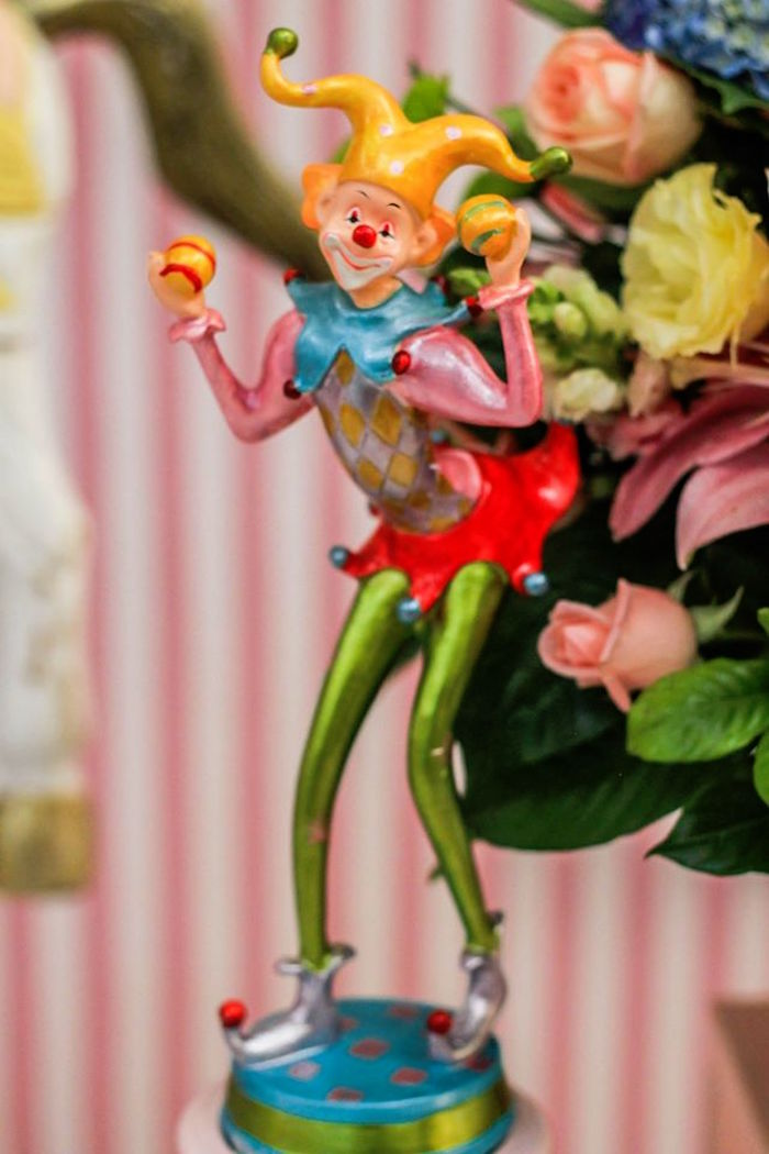 Clown Decoration from a Vintage Carousel Birthday Party via Kara's Party Ideas - KarasPartyIdeas.com (14)