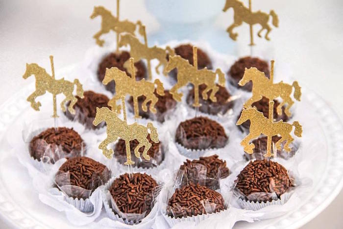 Brigadeiros from a Vintage Carousel Birthday Party via Kara's Party Ideas - KarasPartyIdeas.com (33)