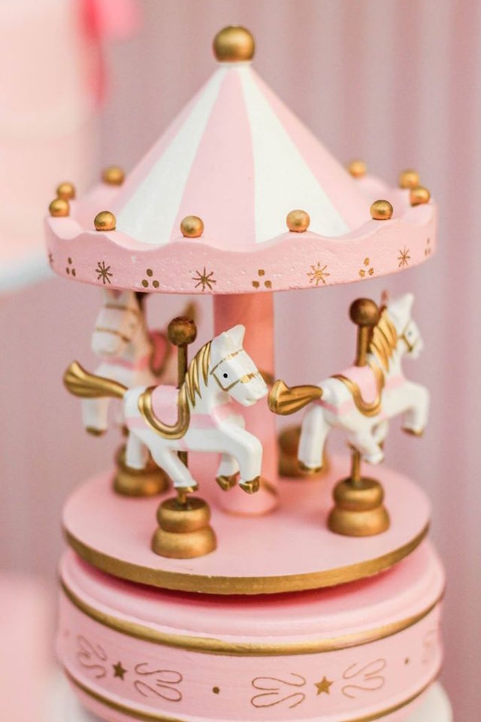 Vintage Carousel Decoration Piece from a Vintage Carousel Birthday Party via Kara's Party Ideas - KarasPartyIdeas.com (30)