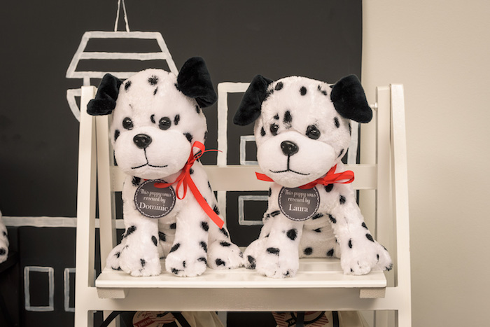 Dalmatian Puppy Favors from a Vintage Fire Truck Themed Birthday Party via Kara's Party Ideas   KarasPartyIdeas.com   The Place for All Things PARTY! (17)