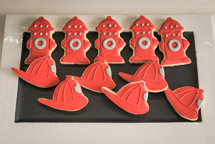 Cookies from a Vintage Fire Truck Themed Birthday Party via Kara's Party Ideas   KarasPartyIdeas.com   The Place for All Things PARTY! (6)