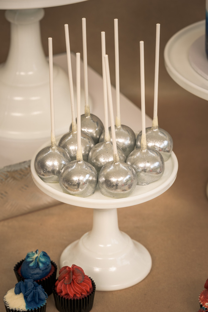 Cake Pops from a Vintage Fire Truck Themed Birthday Party via Kara's Party Ideas   KarasPartyIdeas.com   The Place for All Things PARTY! (29)