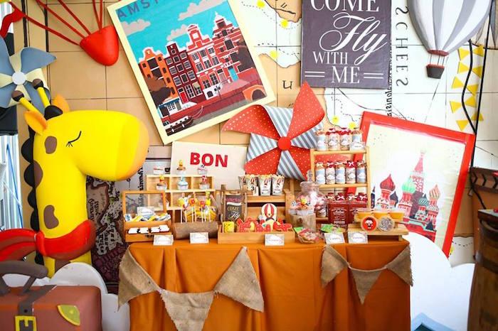 Kara S Party Ideas Vintage Travel Themed Birthday Party