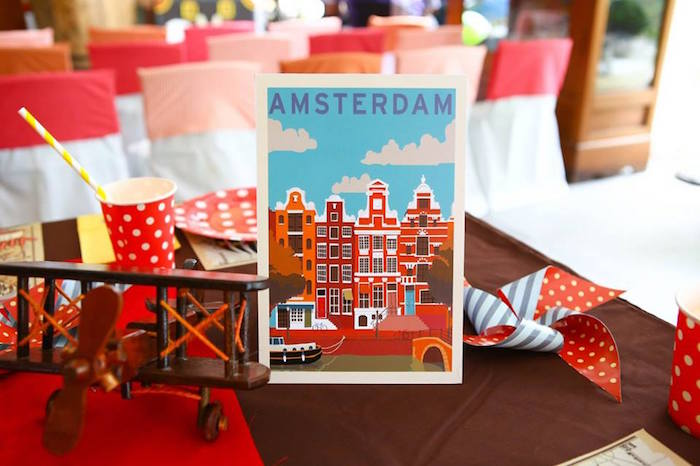 Decorations From A Vintage Travel Themed Birthday Party Via Kara S Ideas Karaspartyideas