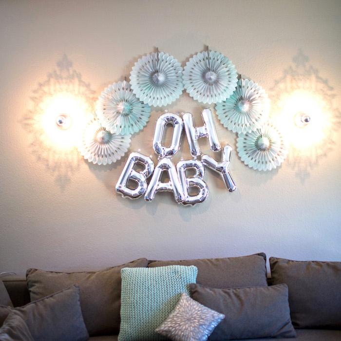 Lounge Area + Decor from a Watercolor Baby Sprinkle via Kara's Party Ideas KarasPartyIdeas.com (18)