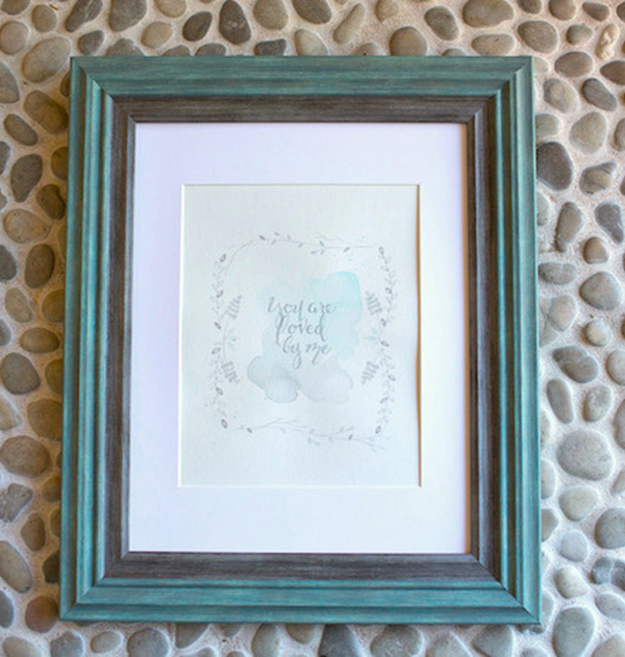 Framed Sign + Stationery from a Watercolor Baby Sprinkle via Kara's Party Ideas KarasPartyIdeas.com (14)