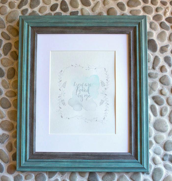 Framed Sign + Stationery from a Watercolor Baby Sprinkle via Kara's Party Ideas KarasPartyIdeas.com (14)