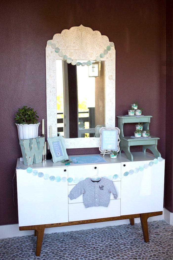 Table from a Watercolor Baby Sprinkle via Kara's Party Ideas KarasPartyIdeas.com (32)