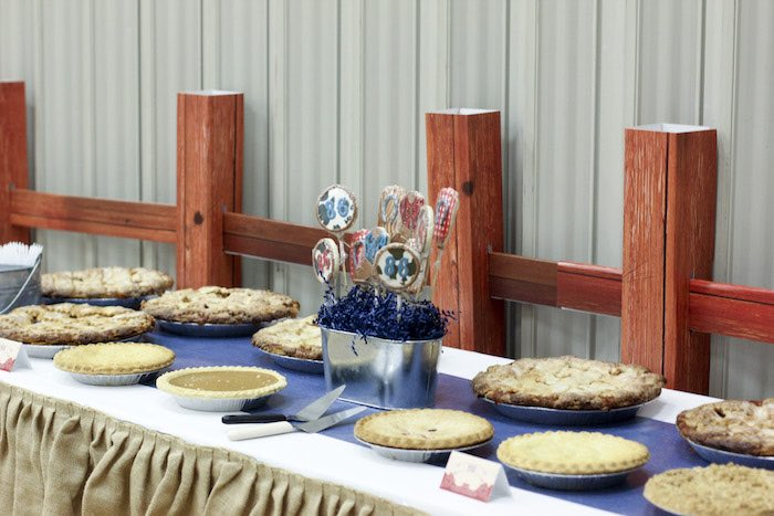 Pie Table from a Western Themed Cub Scout Blue & Gold Banquet via Kara's Party Ideas | KarasPartyIdeas.com (39)