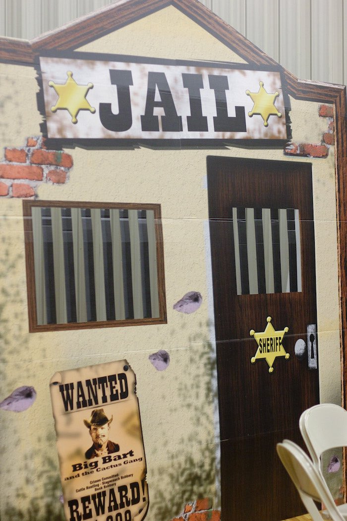 Jail Standee from a Western Themed Cub Scout Blue & Gold Banquet via Kara's Party Ideas | KarasPartyIdeas.com (33)