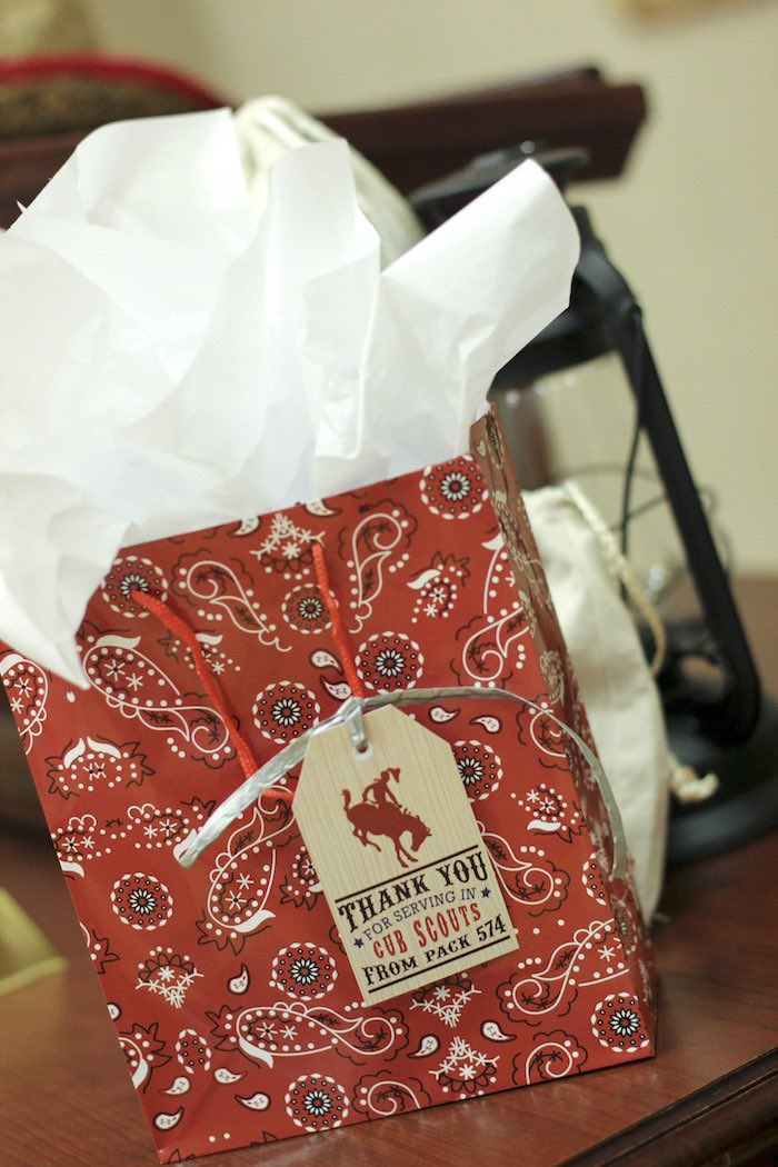 Favor Bag from a Western Themed Cub Scout Blue & Gold Banquet via Kara's Party Ideas | KarasPartyIdeas.com (31)
