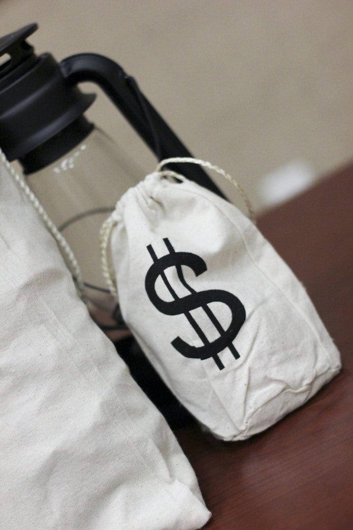 Money Bag from a Western Themed Cub Scout Blue & Gold Banquet via Kara's Party Ideas | KarasPartyIdeas.com (28)