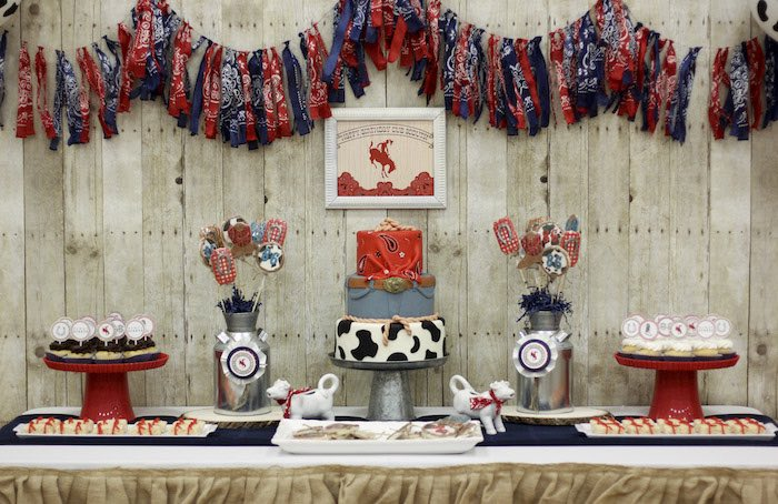 Karas Party Ideas Western Themed Cub Scout Blue amp Gold