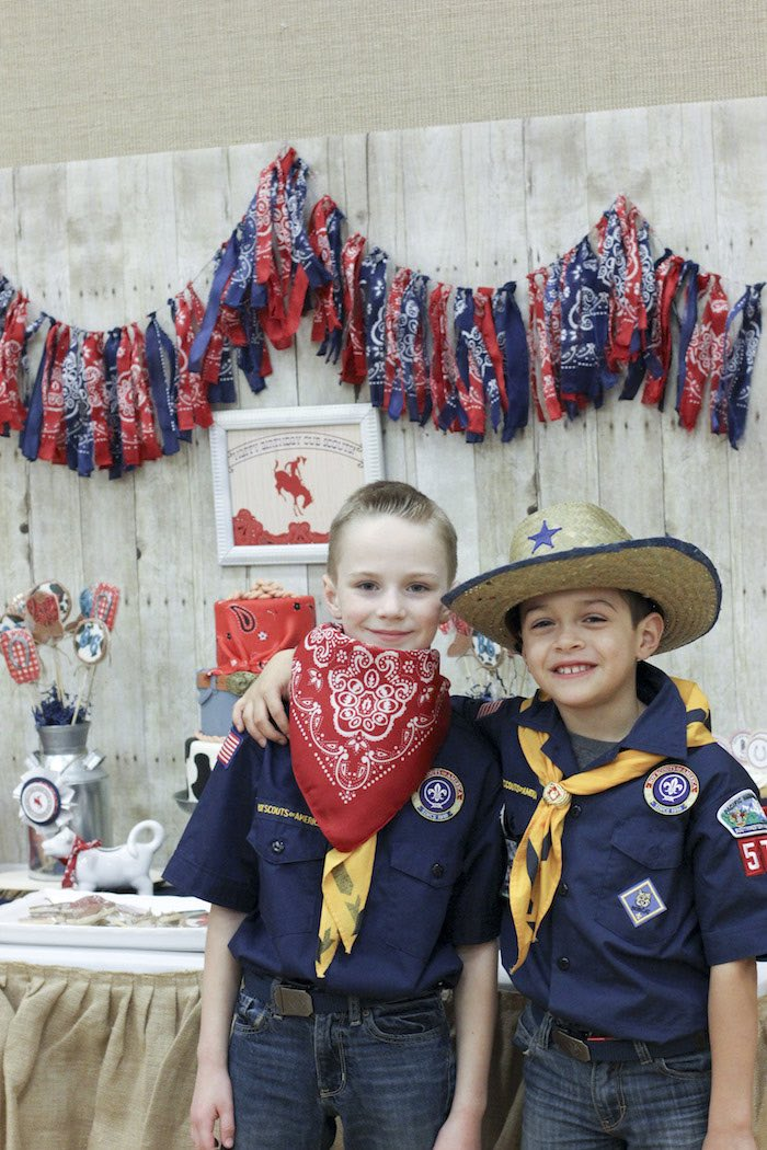 Cub Scouts from a Western Themed Cub Scout Blue & Gold Banquet via Kara's Party Ideas | KarasPartyIdeas.com (6)