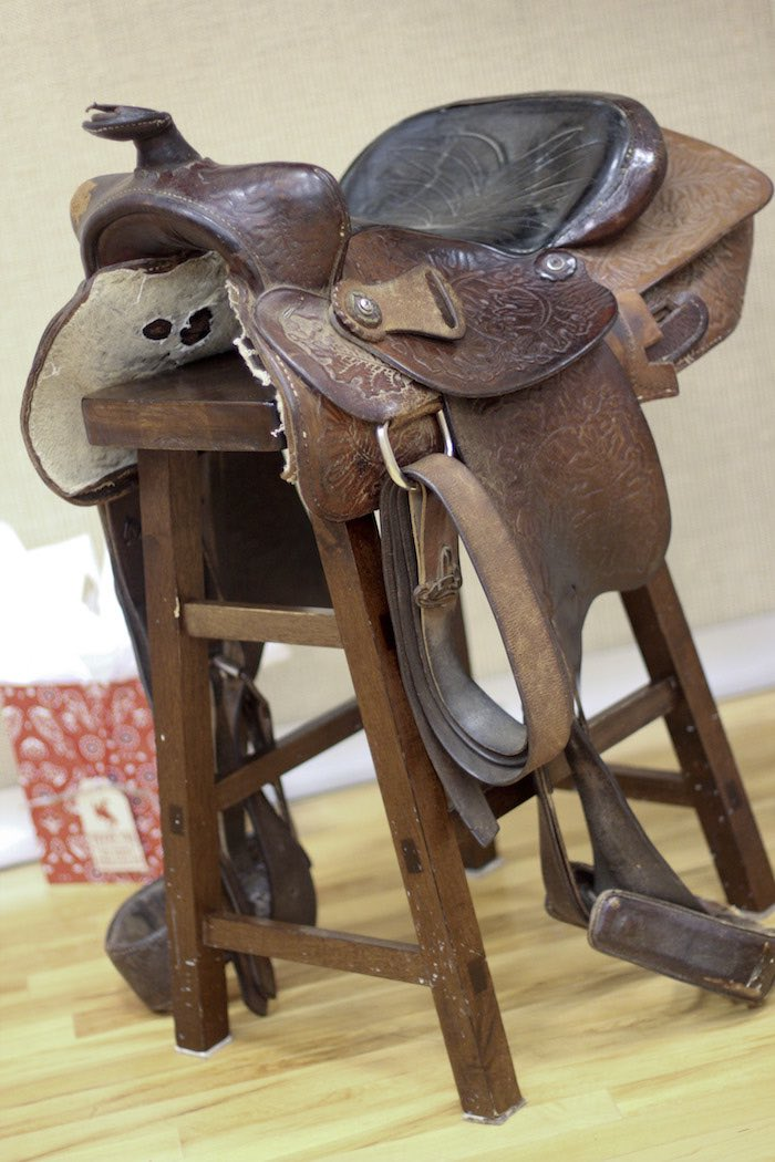 Saddle from a Western Themed Cub Scout Blue & Gold Banquet via Kara's Party Ideas | KarasPartyIdeas.com (50)