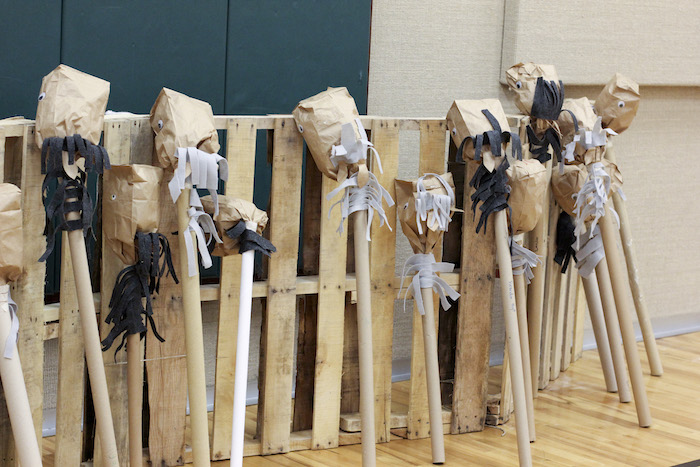 Brown Paper Bag Ponies from a Western Themed Cub Scout Blue & Gold Banquet via Kara's Party Ideas | KarasPartyIdeas.com (4)