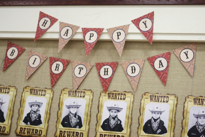 Banner + Wanted Wall from a Western Themed Cub Scout Blue & Gold Banquet via Kara's Party Ideas | KarasPartyIdeas.com (49)