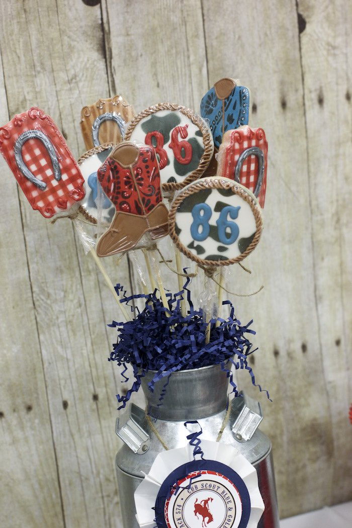 Cookies from a Western Themed Cub Scout Blue & Gold Banquet via Kara's Party Ideas | KarasPartyIdeas.com (46)