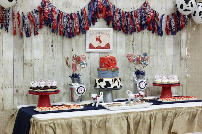 Sweet Table from a Western Themed Cub Scout Blue & Gold Banquet via Kara's Party Ideas | KarasPartyIdeas.com (45)