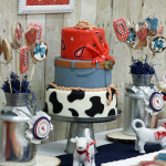 Dessert Table Details from a Western Themed Cub Scout Blue & Gold Banquet via Kara's Party Ideas | KarasPartyIdeas.com (1)