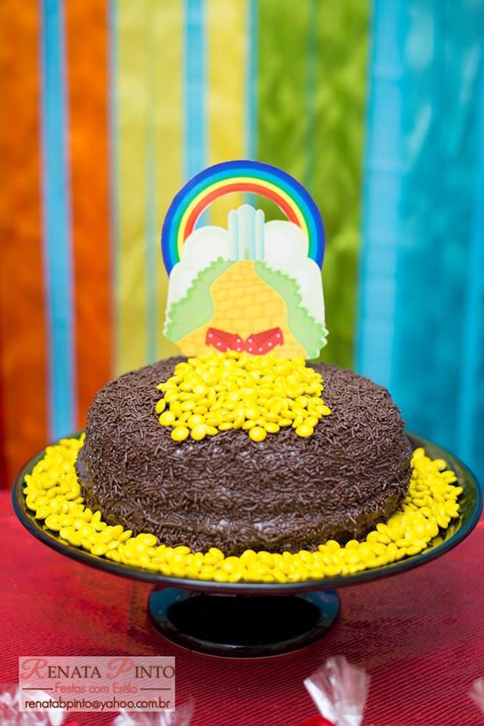 Cake from a Wizard of Oz Birthday Party via Kara's Party Ideas | KarasPartyIdeas.com (24)