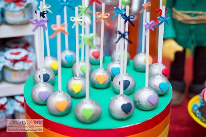 Cake Pops from a Wizard of Oz Birthday Party via Kara's Party Ideas | KarasPartyIdeas.com (17)