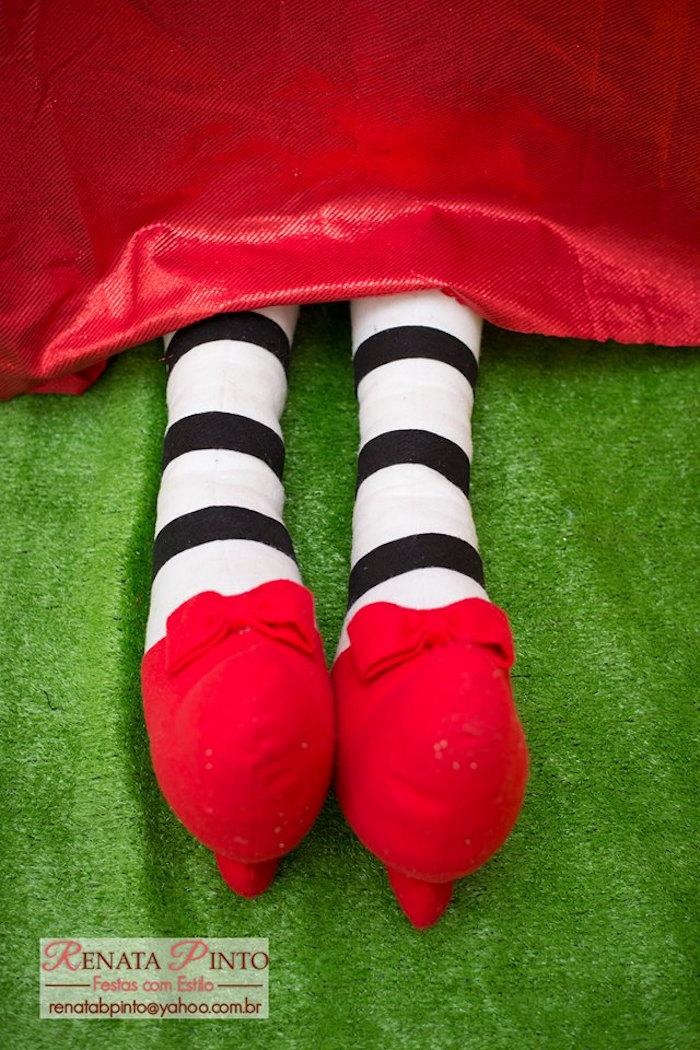 Wicked Witch's Legs Decoration from a Wizard of Oz Birthday Party via Kara's Party Ideas | KarasPartyIdeas.com (12)