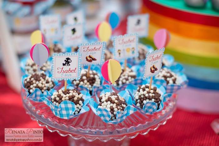 Brigadeiros from a Wizard of Oz Birthday Party via Kara's Party Ideas | KarasPartyIdeas.com (11)