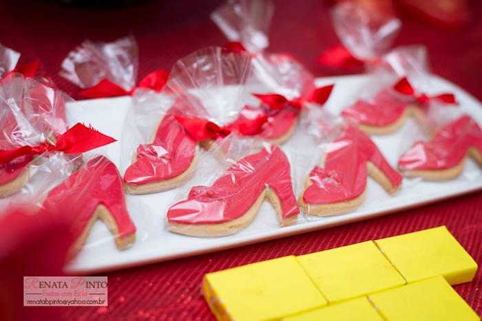 Dorothy's Shoe Cookies from a Wizard of Oz Birthday Party via Kara's Party Ideas | KarasPartyIdeas.com (8)
