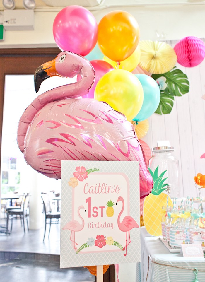 Sign from a Spring Flamingo Birthday Party via Kara's Party Ideas - KarasPartyIdeas.com (19)