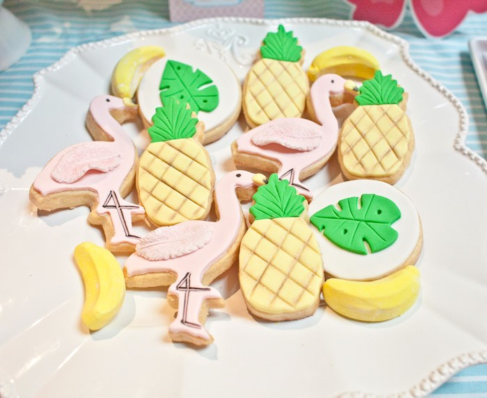 Cookies from a Spring Flamingo Birthday Party via Kara's Party Ideas - KarasPartyIdeas.com (10)