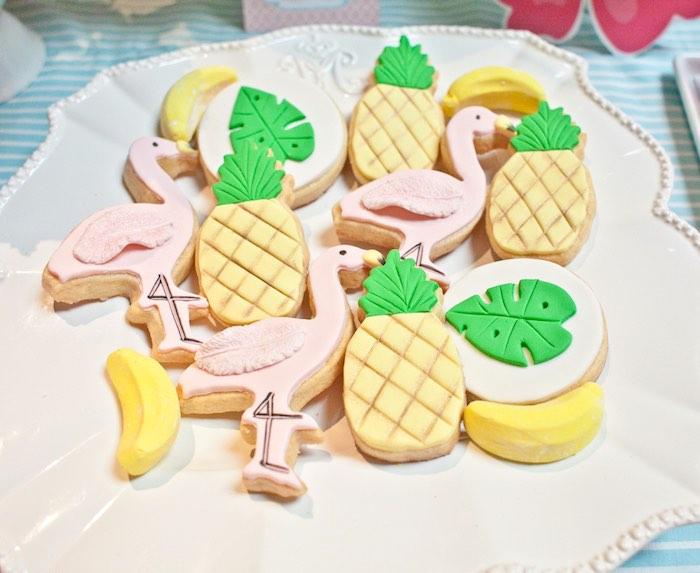 Cookies from a Spring Flamingo Birthday Party via Kara's Party Ideas - KarasPartyIdeas.com (10)